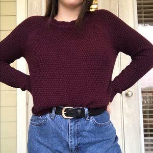 Deep purple knit sweater